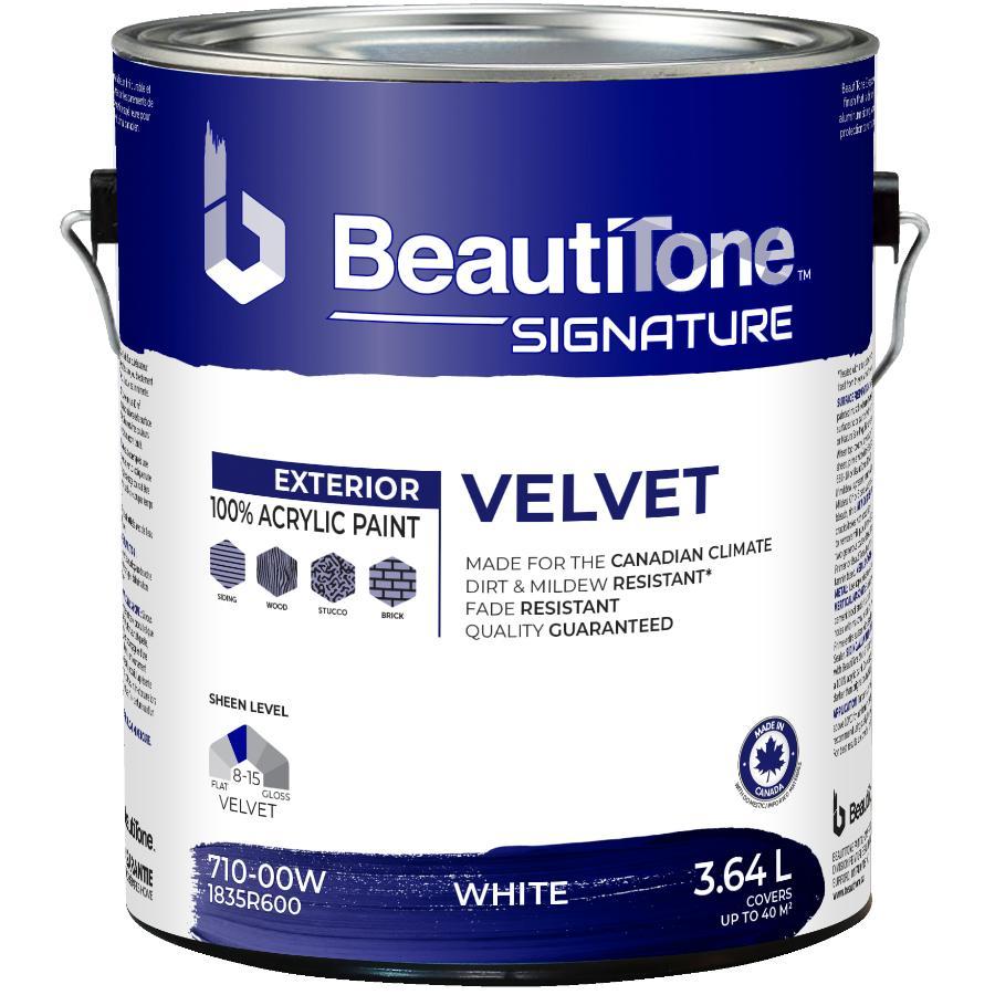 Beauti-tone Signature Series 3.64L White Base Velvet Finish Exterior Latex Paint