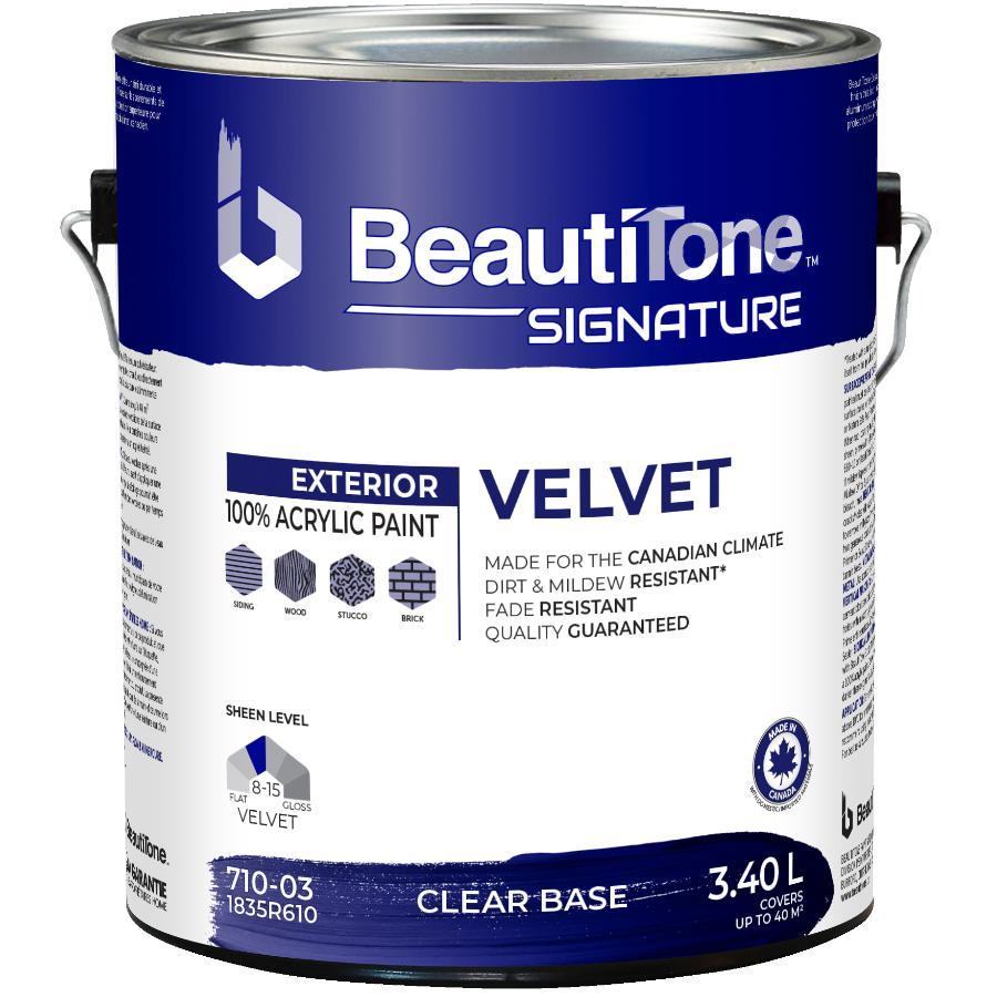 Beautitone Signature: 3.40L Velvet Finish Clear Base Exterior Latex Paint