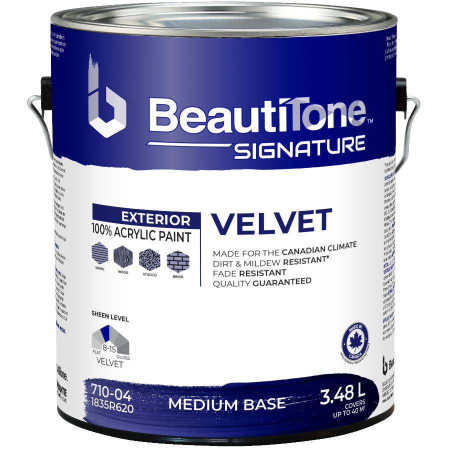 Beauti-tone Signature Series 3.48L Velvet Finish Medium Base Exterior Latex Paint