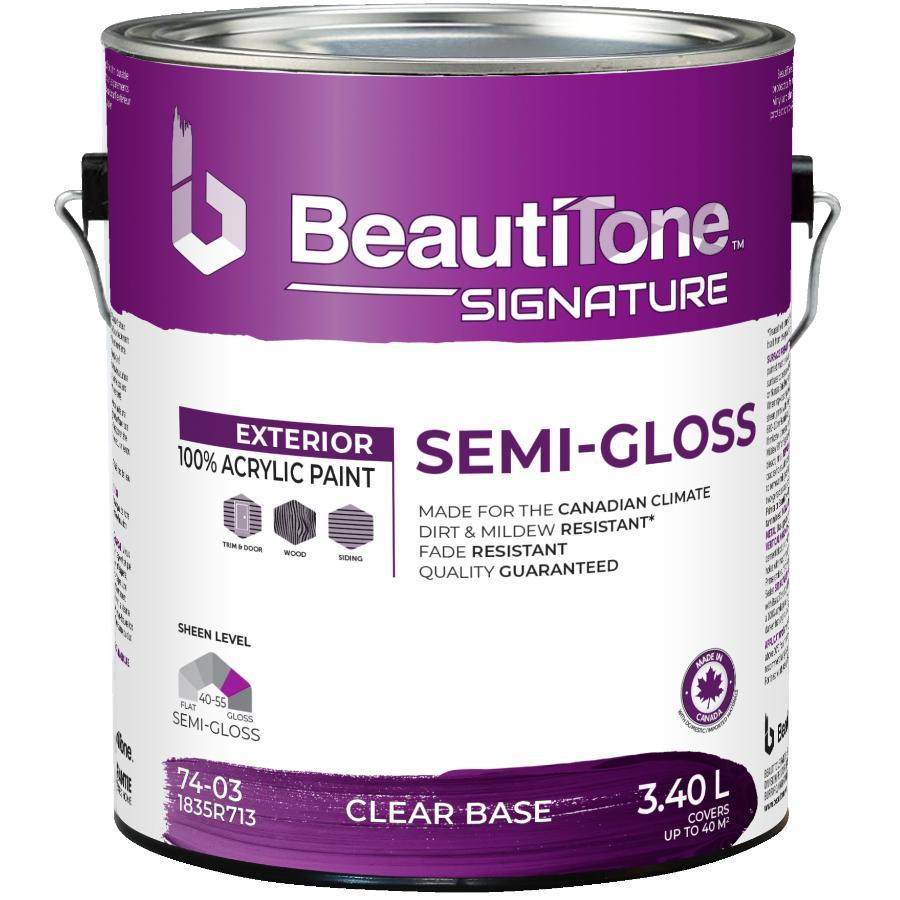 Beauti-tone Signature Series 3.40L Clear Base Semi-Gloss Exterior Latex Paint