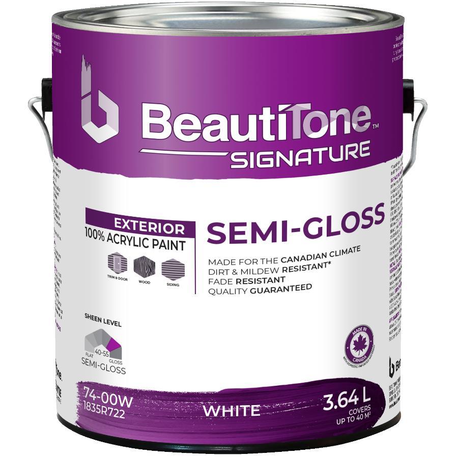 Beautitone Signature: 3.64L White Base Semi-Gloss Exterior Latex Paint
