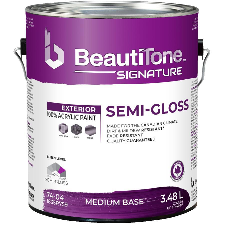 Beauti-tone Signature Series 3.48L Medium Base Semi-Gloss Exterior Latex Paint