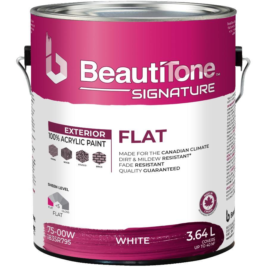 Beauti-tone Signature Series 3.64L Flat White Exterior Latex Paint