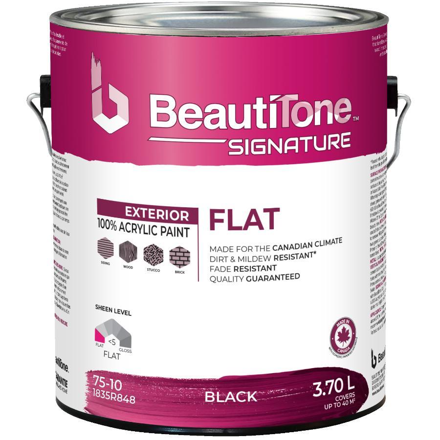 Beauti-tone Signature Series 3.78L Flat Black Exterior Latex Paint