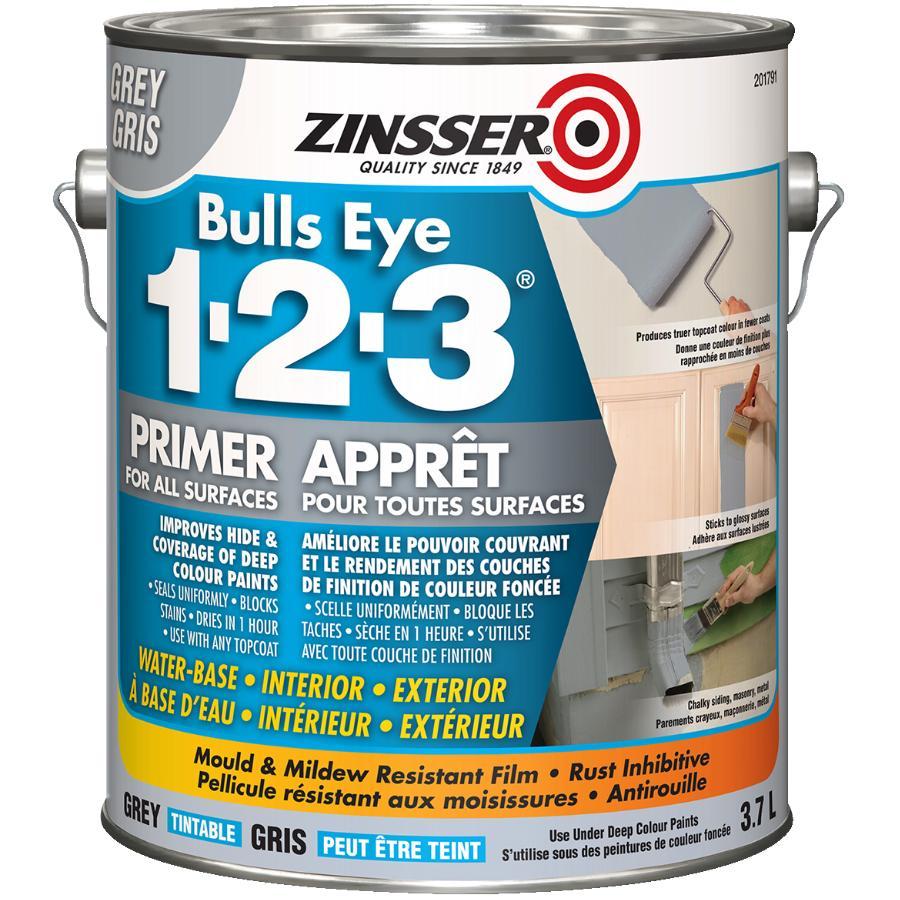 Zinsser 3.78L 1-2-3 Bulls Eye Latex Grey Primer Sealer