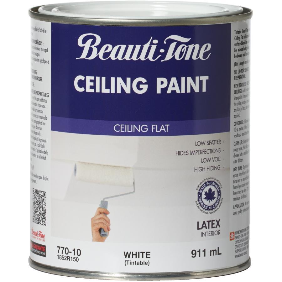 Beautitone Latex Ceiling Paint - Flat White, 911 ml