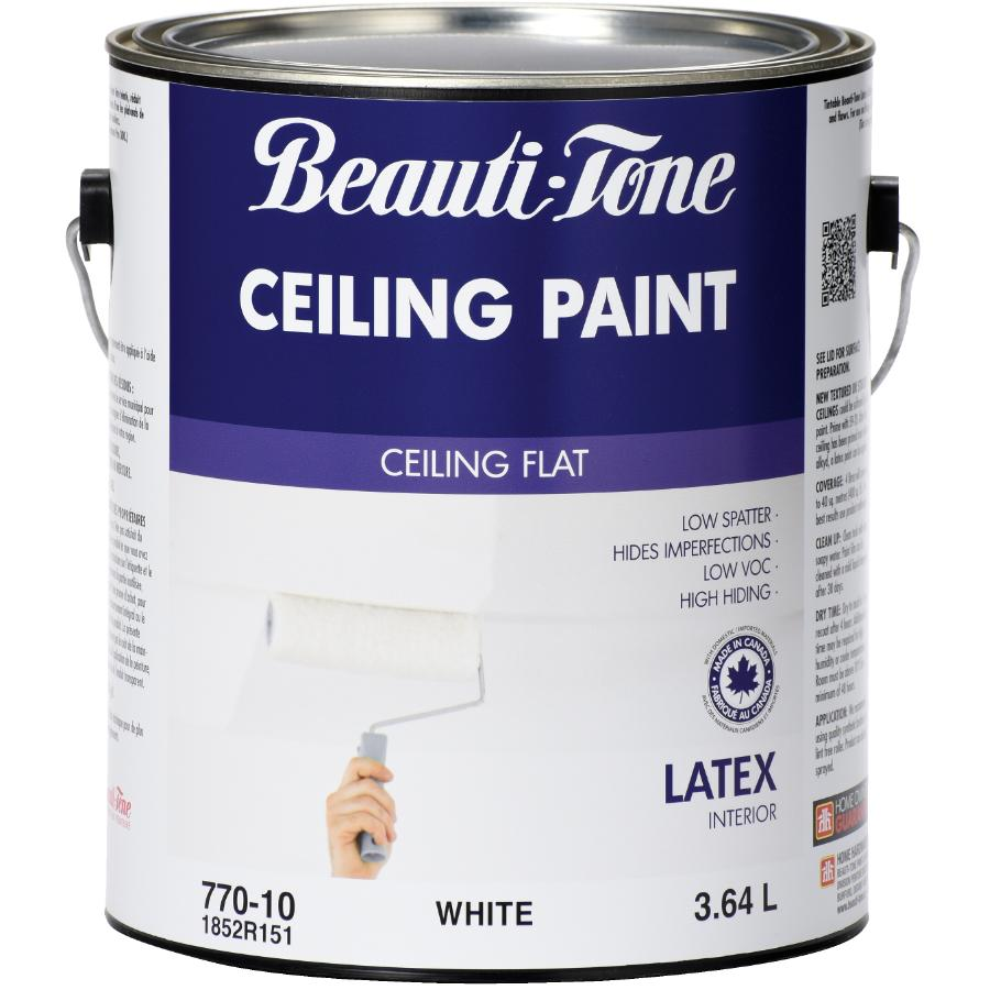 Beauti-tone: 3.64L White Interior Flat Latex Ceiling Paint
