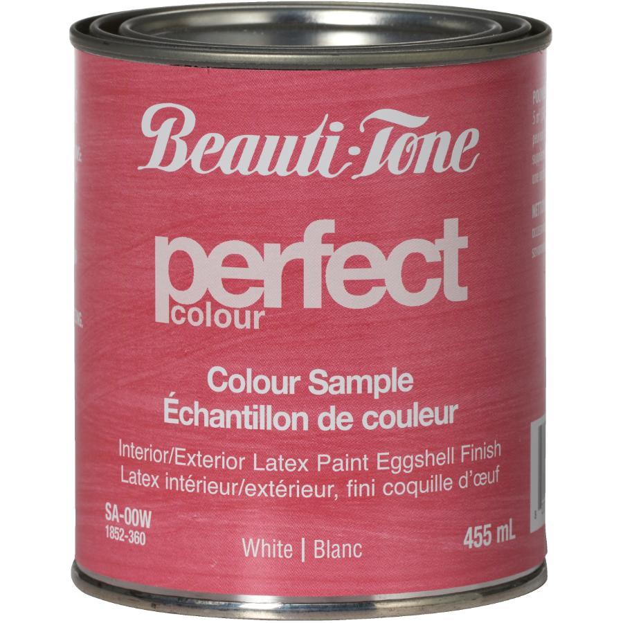 Beautitone 455ml Sample Size White Base Eggshell Finish Interior Latex Paint