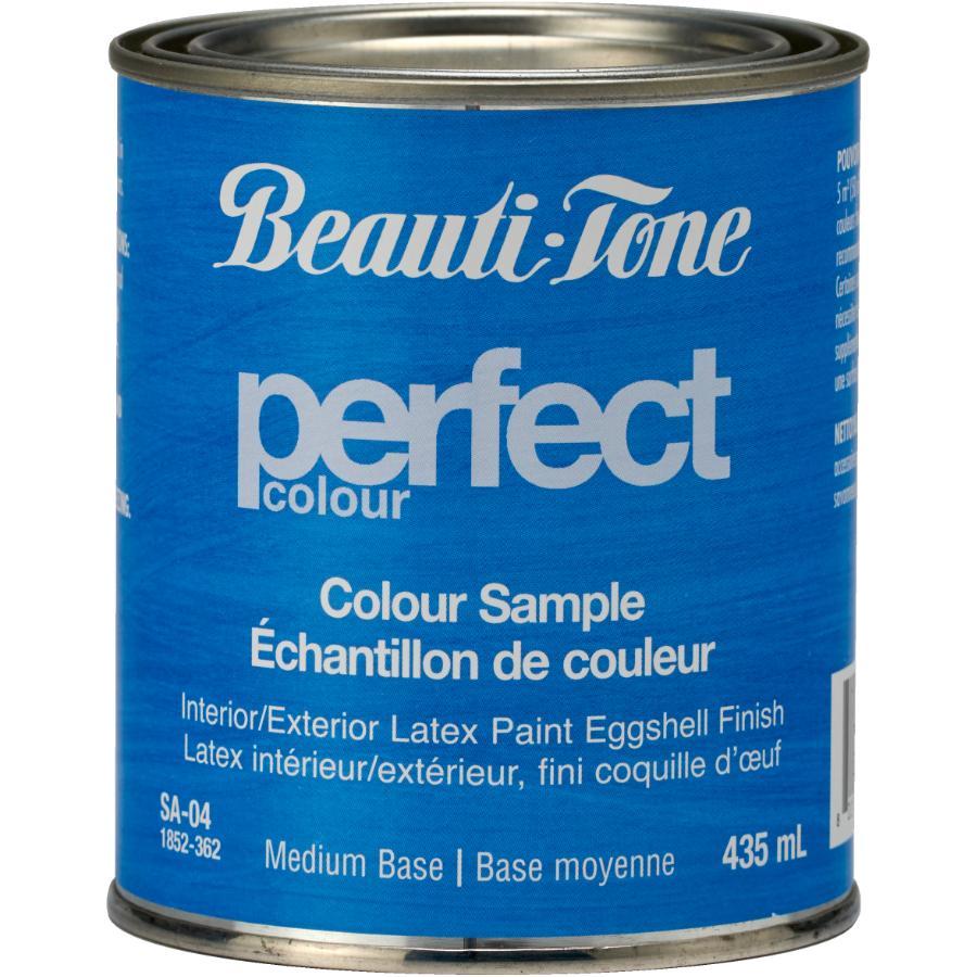 Beautitone Interior / Exterior Latex Eggshell Perfect Colour Paint Sample - Medium Base, 435 ml