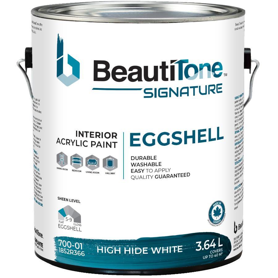 Beauti-tone Signature Series 3.64L High Hide White Eggshell Finish Interior Latex Paint