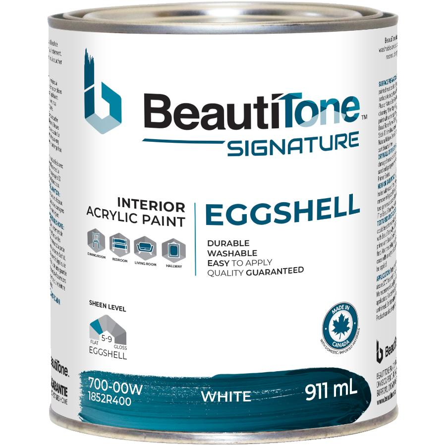 Beauti-tone Signature Series 911mL White Base Eggshell Finish Interior Latex Paint