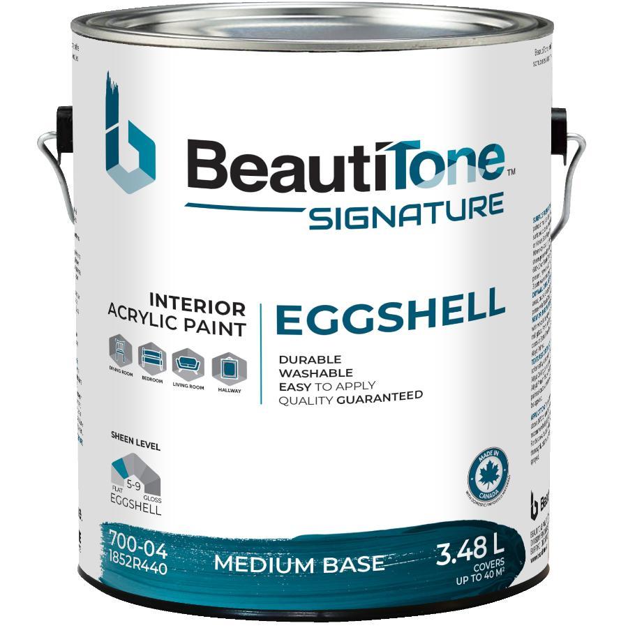 Beauti-tone Signature Series 3.48L Medium Base Eggshell Finish Interior Latex Paint