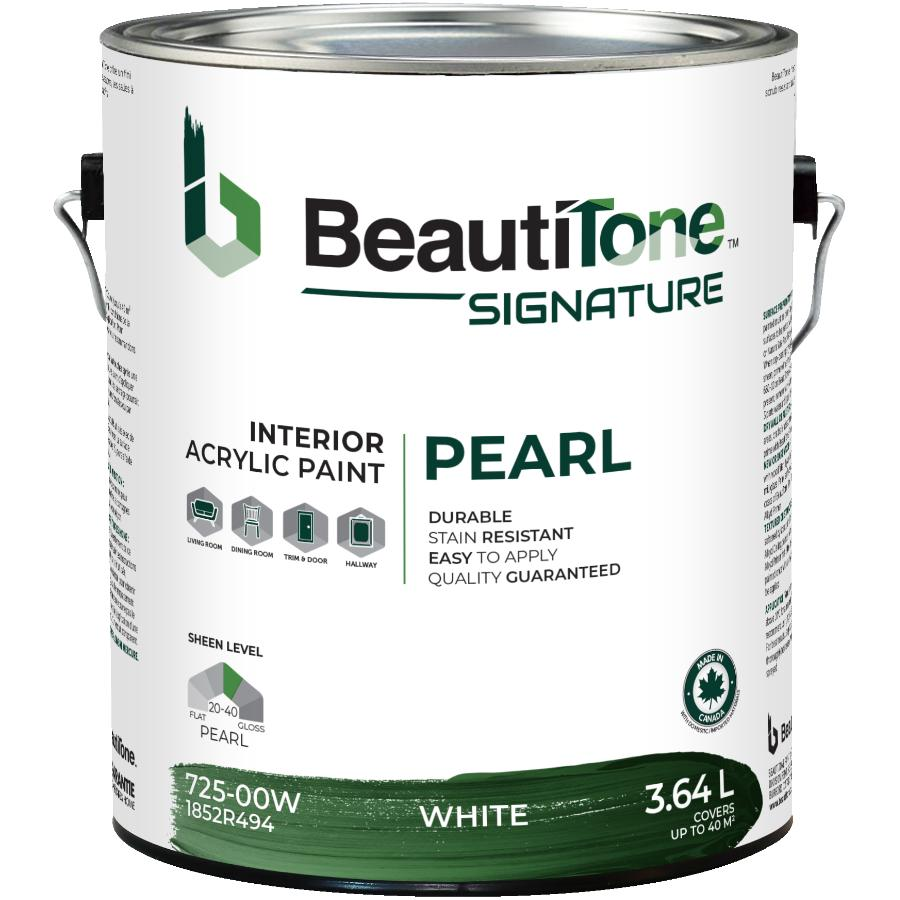 Beauti-tone Signature Series: 3.64L White Base Pearl Finish Interior Latex Paint