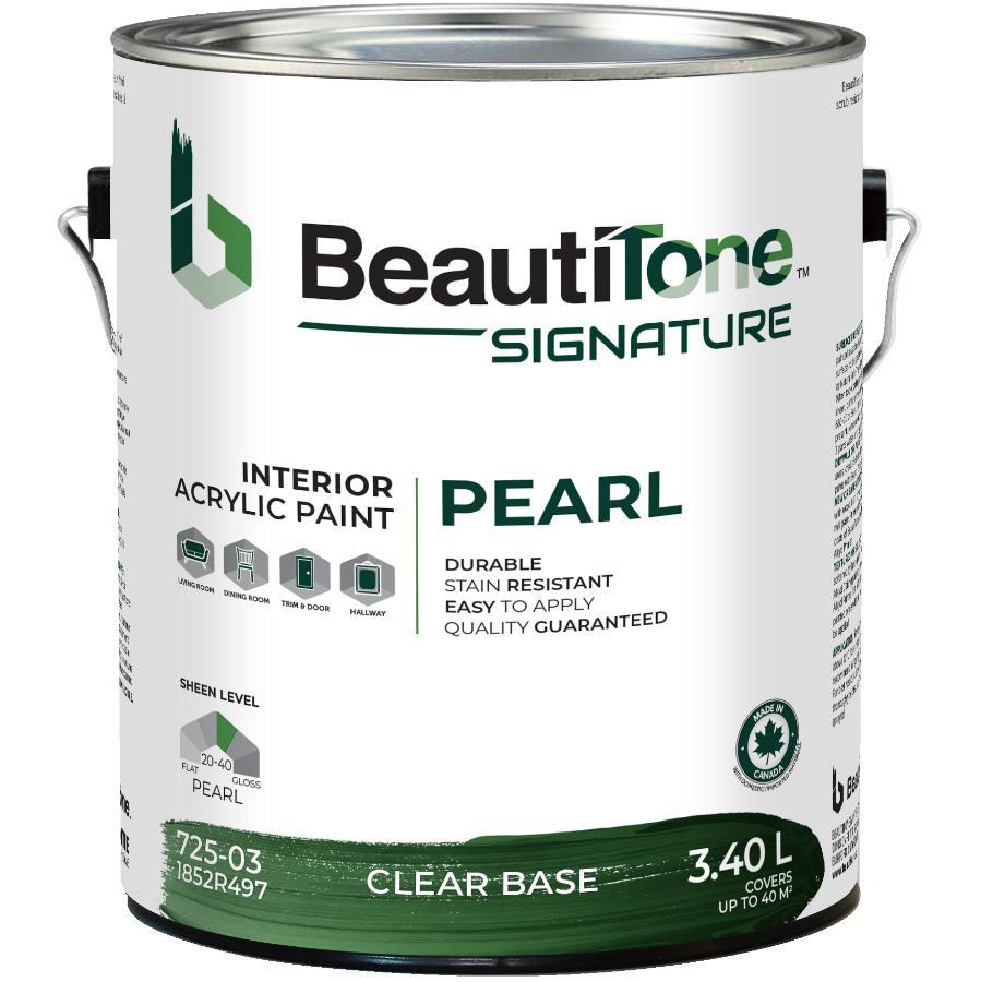 Beauti-tone Signature Series 3.40L Clear Base Pearl Finish Interior Latex Paint