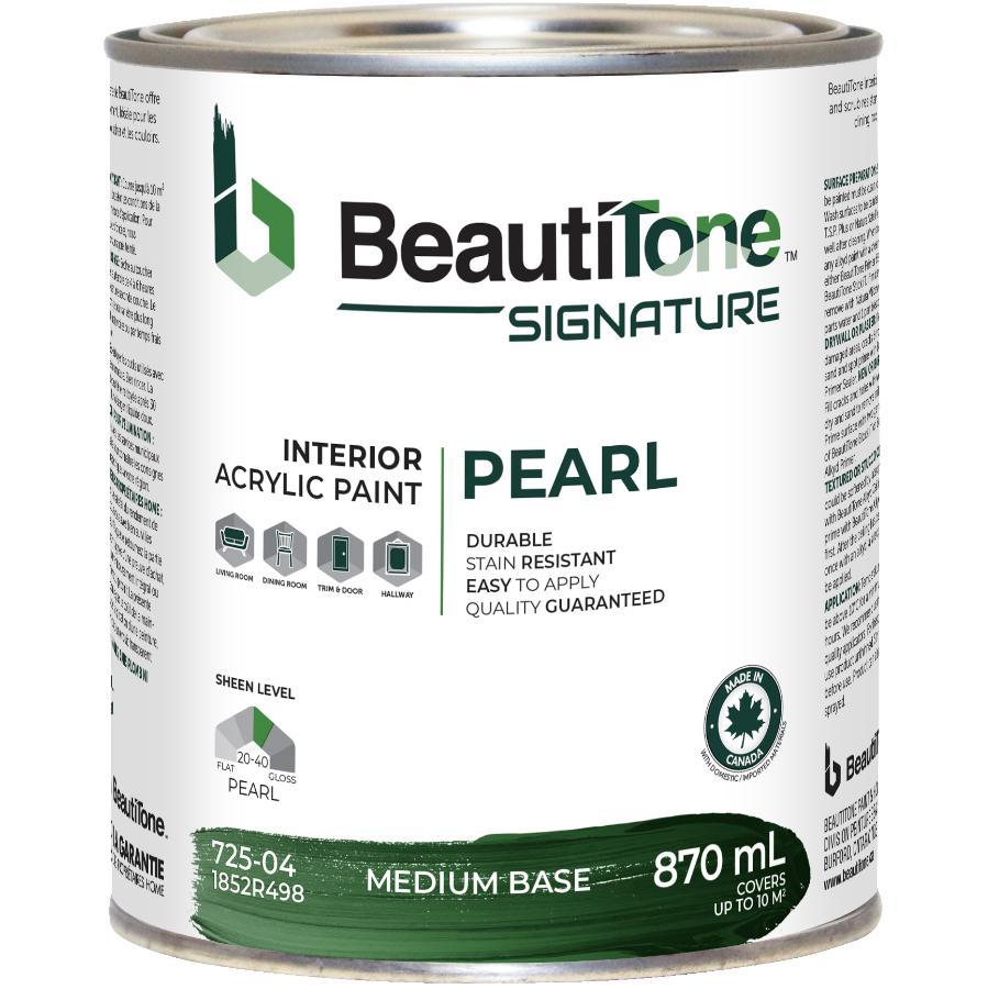 Beauti-tone Signature Series 870mL Medium Base Pearl Finish Interior Latex Paint