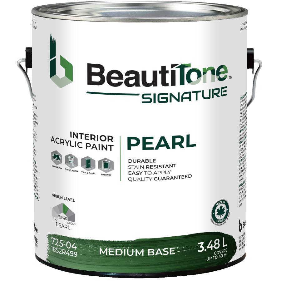 Beauti-tone Signature Series 3.48L Medium Base Pearl Finish Interior Latex Paint