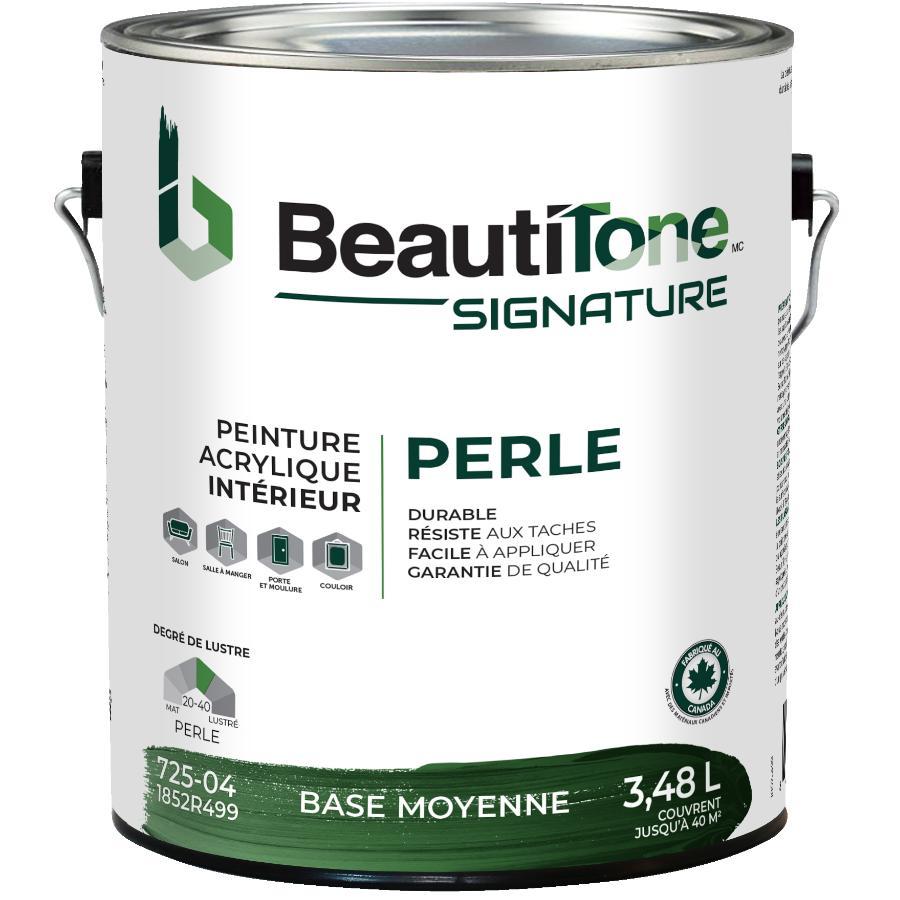 Beautitone Signature: Interior Acrylic Latex Pearl Paint - Medium Base, 3.48 L