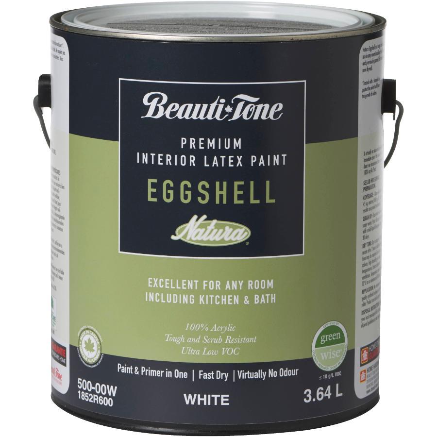 Beauti-tone Natura: 3.64L White Base Eggshell Finish Interior Latex Paint