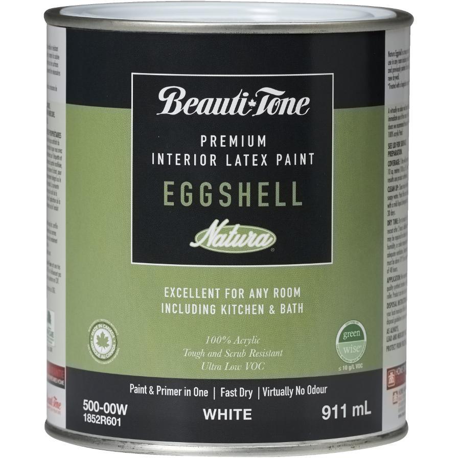 Beauti-tone Natura 911ml White Base Eggshell Finish Interior Latex Paint