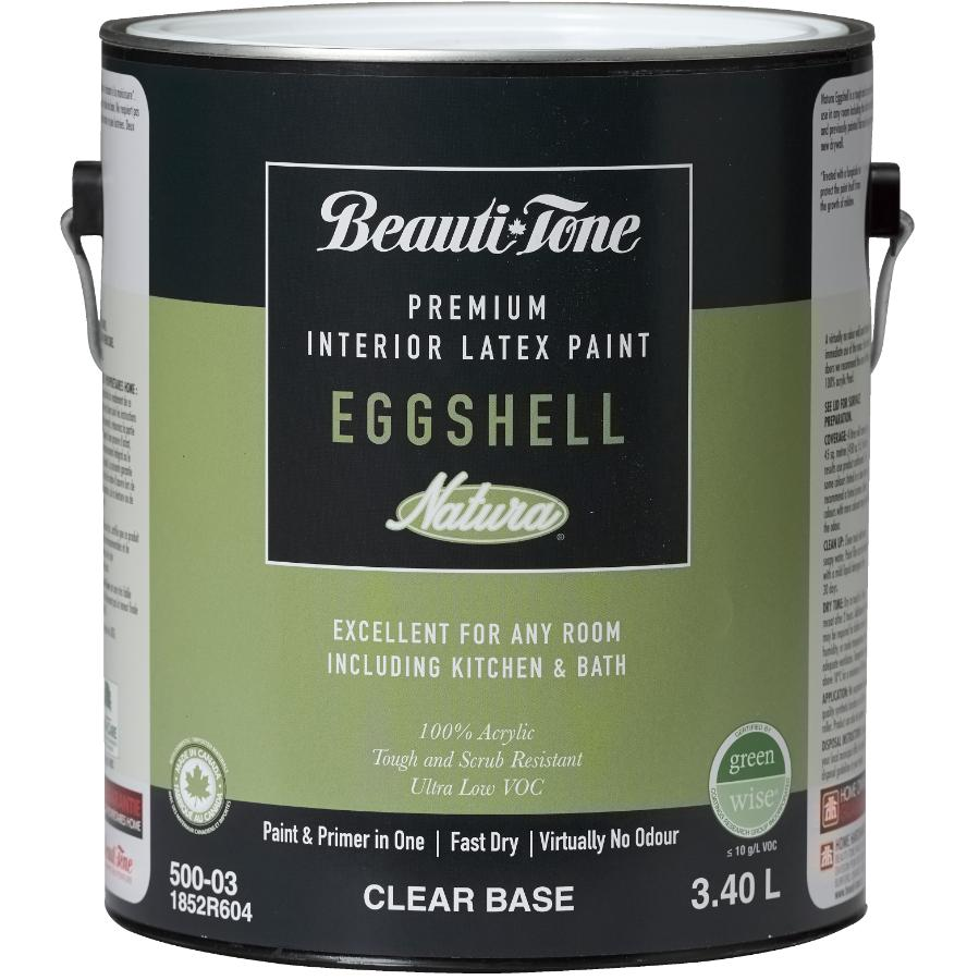 Beauti-tone Natura 3.40L Clear Base Eggshell Finish Interior Latex Paint