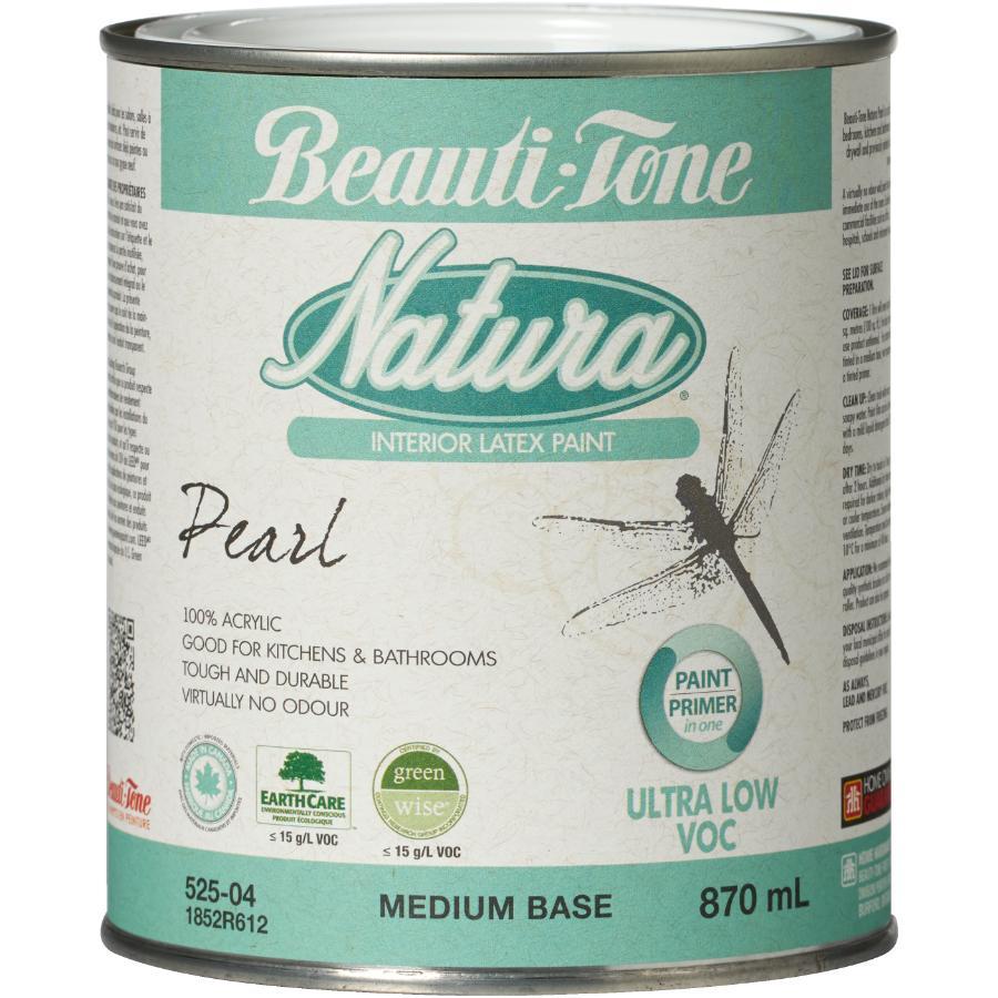Beauti-tone Natura 870ml Medium Base Pearl Finish Interior Latex Paint