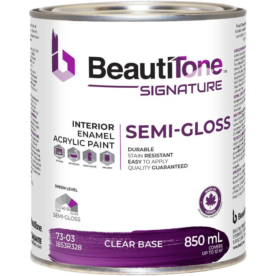 Beauti-tone Signature Series 850mL Clear Base Semi Gloss Interior Latex Paint