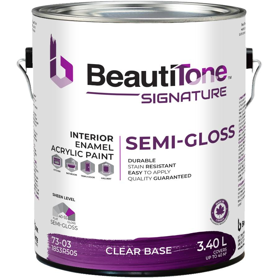 Beauti-tone Signature Series 3.40L Clear Base Semi Gloss Interior Latex Paint
