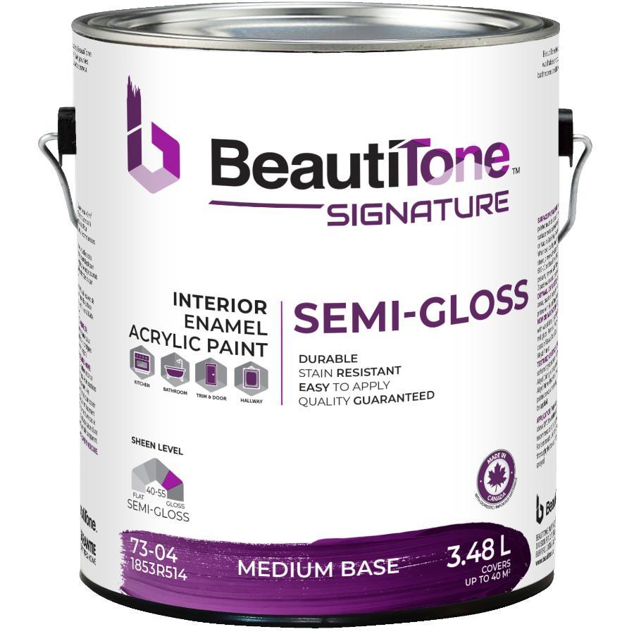 Beauti-tone Signature Series: 3.48L Medium Base Semi Gloss Interior Latex Paint