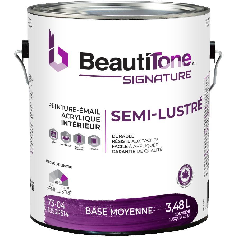 Beautitone Signature: Interior Acrylic Latex Semi-Gloss Paint - Medium Base, 3.48 L