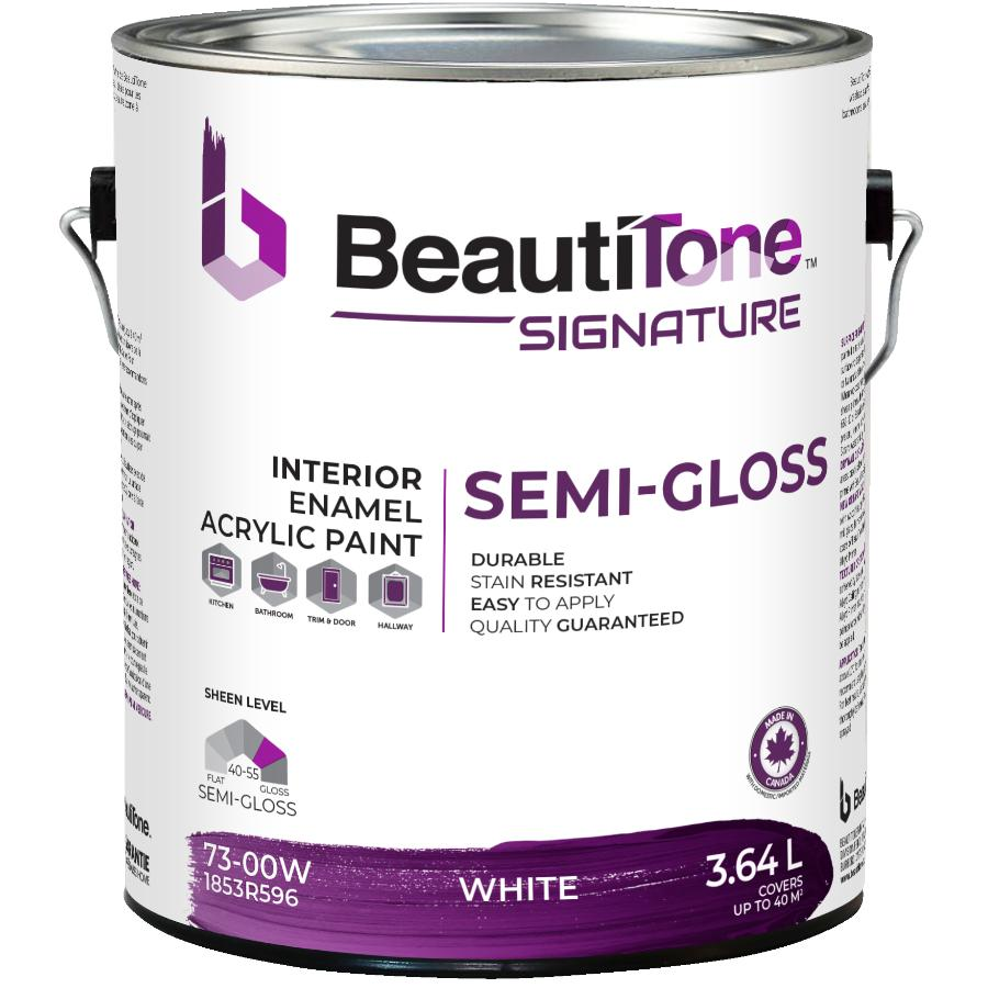 Beauti-tone Signature Series: 3.64L White Base Semi Gloss Interior Latex Paint