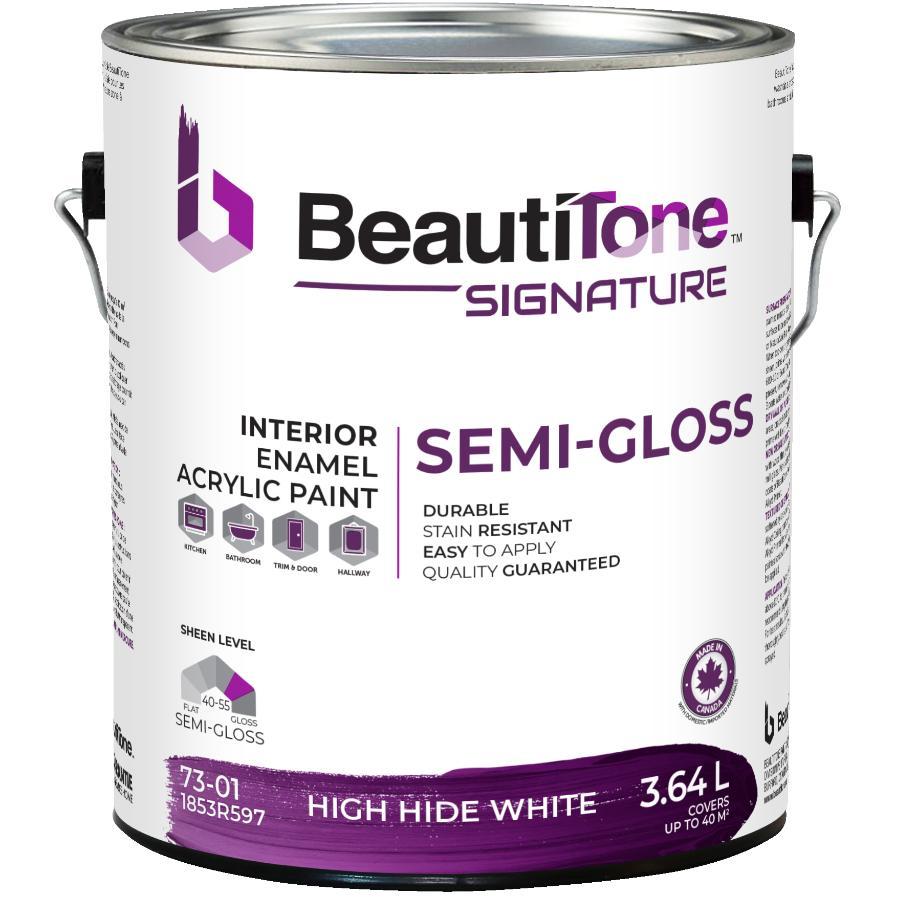 Beauti-tone Signature Series: 3.64L High Hide White Base Semi Gloss Latex Interior Paint