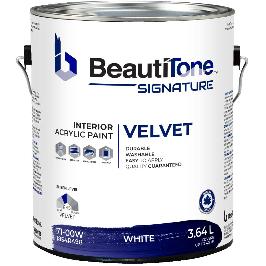 Beauti-tone Signature Series: 3.64L White Base Velvet Finish Interior Latex Paint