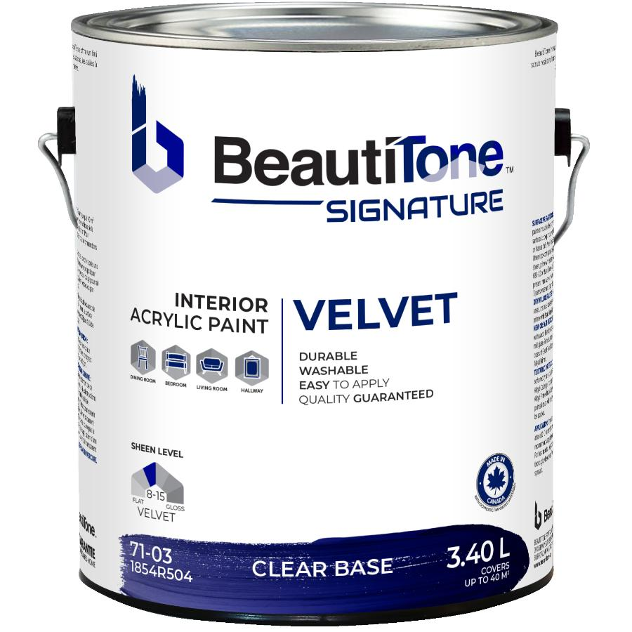 Beauti-tone Signature Series: 3.40L Clear Base Velvet Finish Interior Latex Paint