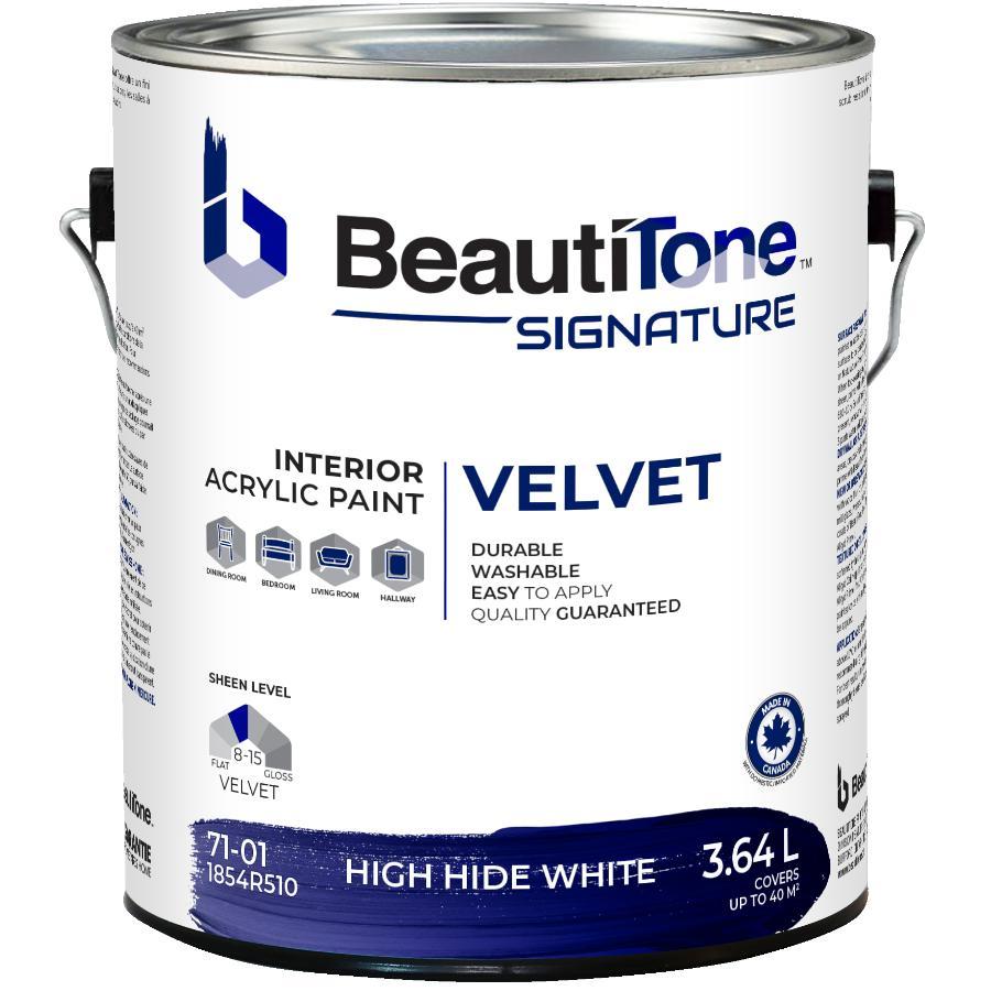 Beautitone Signature: 3.64L High Hide White Velvet Finish Interior Latex Paint