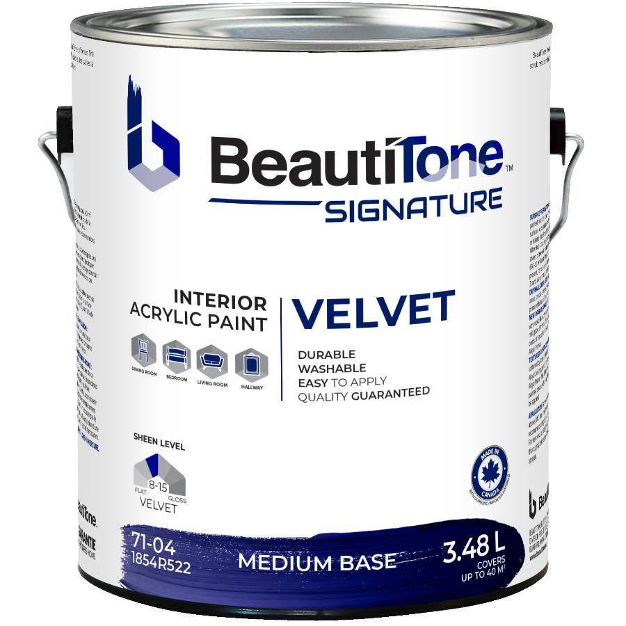 Beauti-tone Signature Series 3.48L Medium Base Velvet Finish Interior Latex Paint