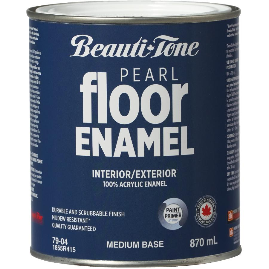 Beautitone Interior / Exterior Acrylic Latex Pearl Floor Paint - Medium Base, 870 ml