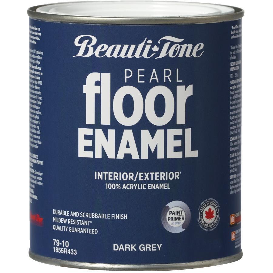 Beautitone Interior / Exterior Acrylic Latex Pearl Floor Paint - Dark Grey, 925 ml