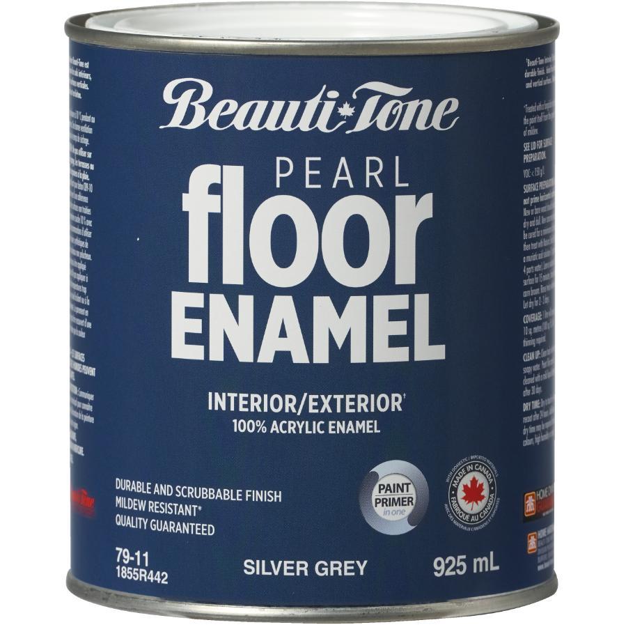 Beautitone Interior / Exterior Acrylic Latex Pearl Floor Paint - Silver Grey, 925 ml