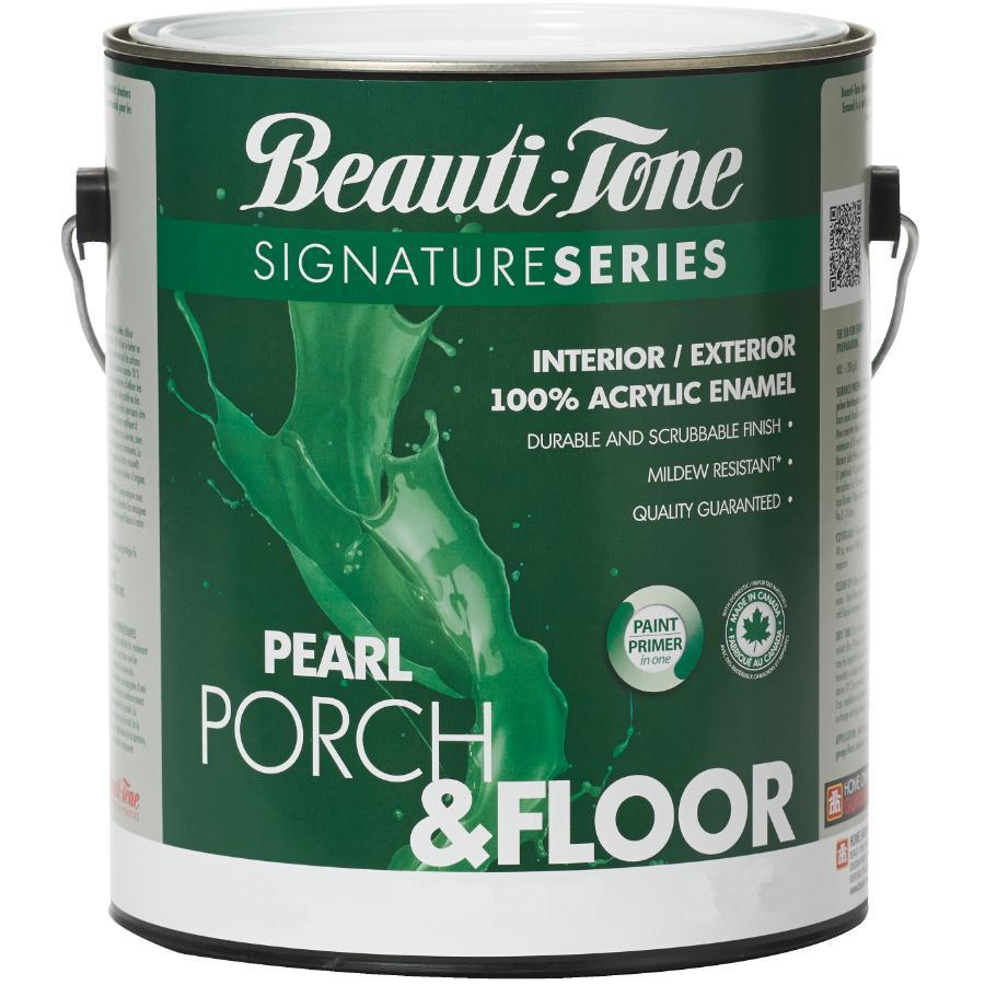Beautitone: Interior / Exterior Acrylic Latex Pearl Porch & Floor Paint - Silver Grey, 3.7 L