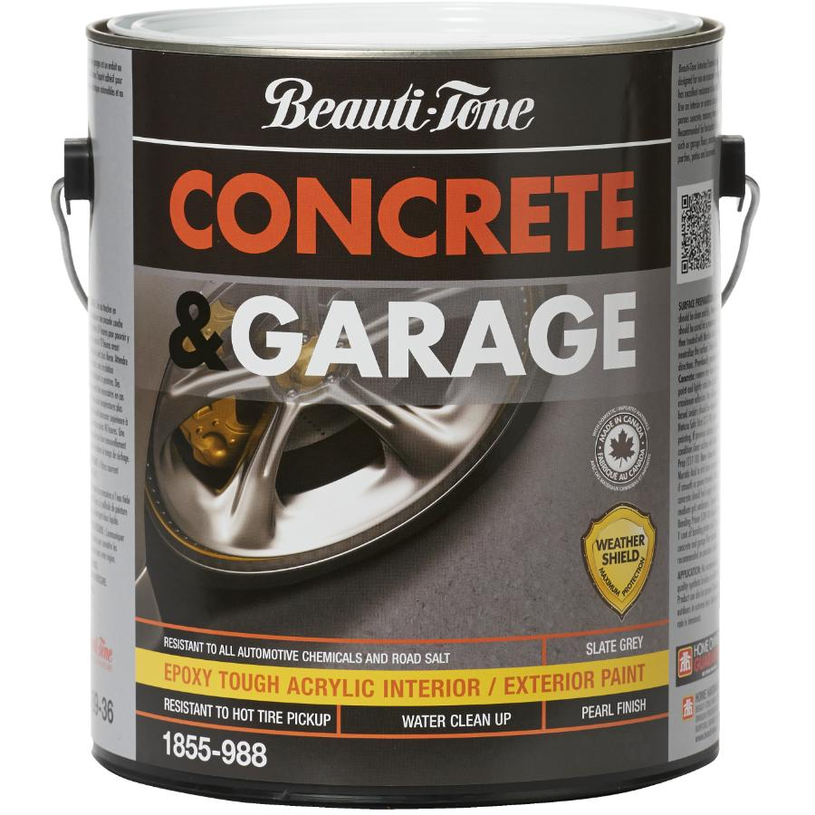 BEAUTI-TONE 3.78L Slate Grey Concrete and Garage Latex Paint