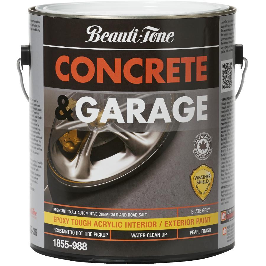 Beauti-tone 3.78L Slate Grey Concrete and Garage Latex Paint