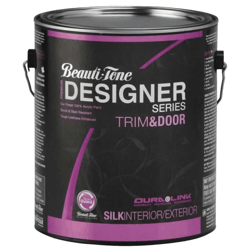 Beauti-tone Designer Series 3.48L Trim & Door Medium Base Silk Finish Latex Paint