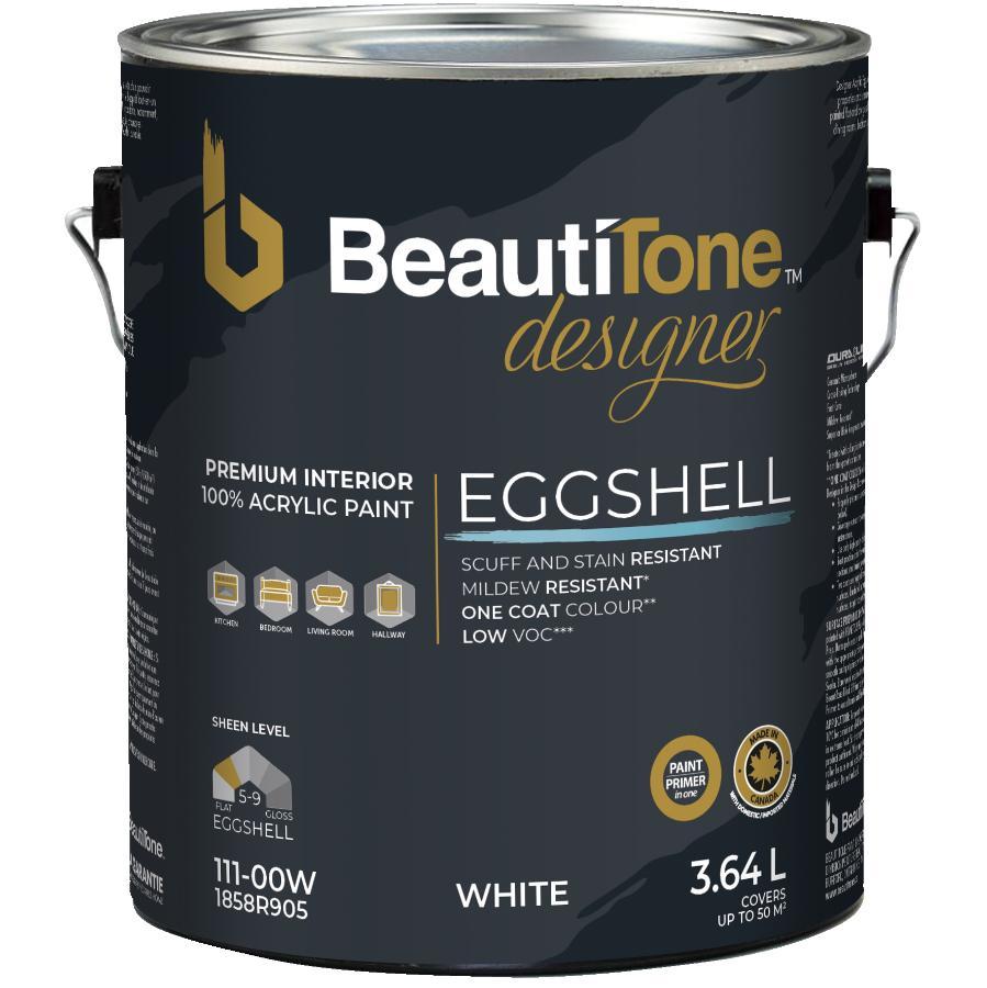 Beauti-tone Designer Series 3.64L White Base Satin Finish Interior Latex Paint