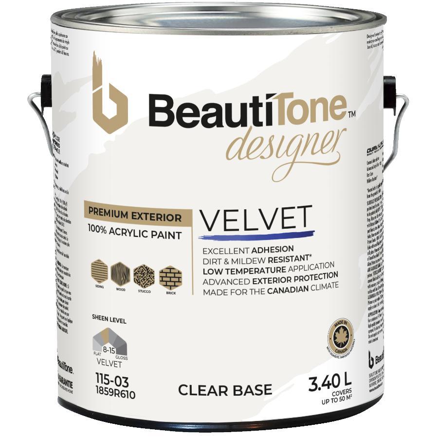 Beauti-tone Designer Series: 3.40L Suede Finish Clear Base Exterior Latex Paint