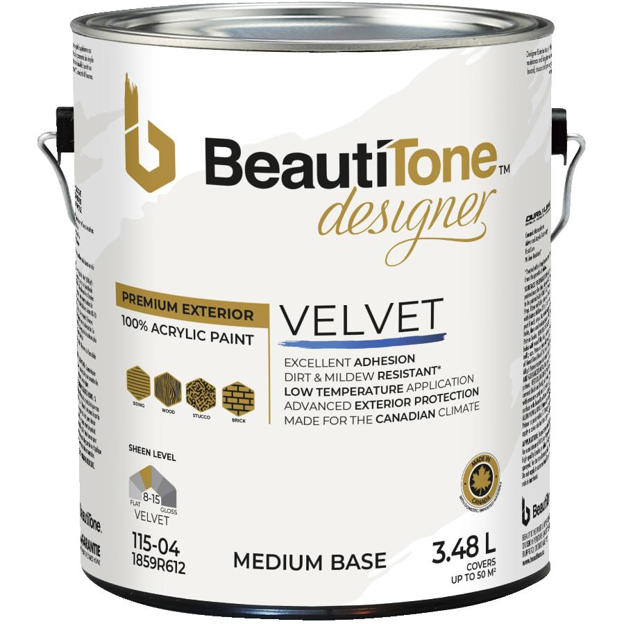 Beauti-tone Designer Series: 3.48L Suede Finish Medium Base Exterior Latex Paint