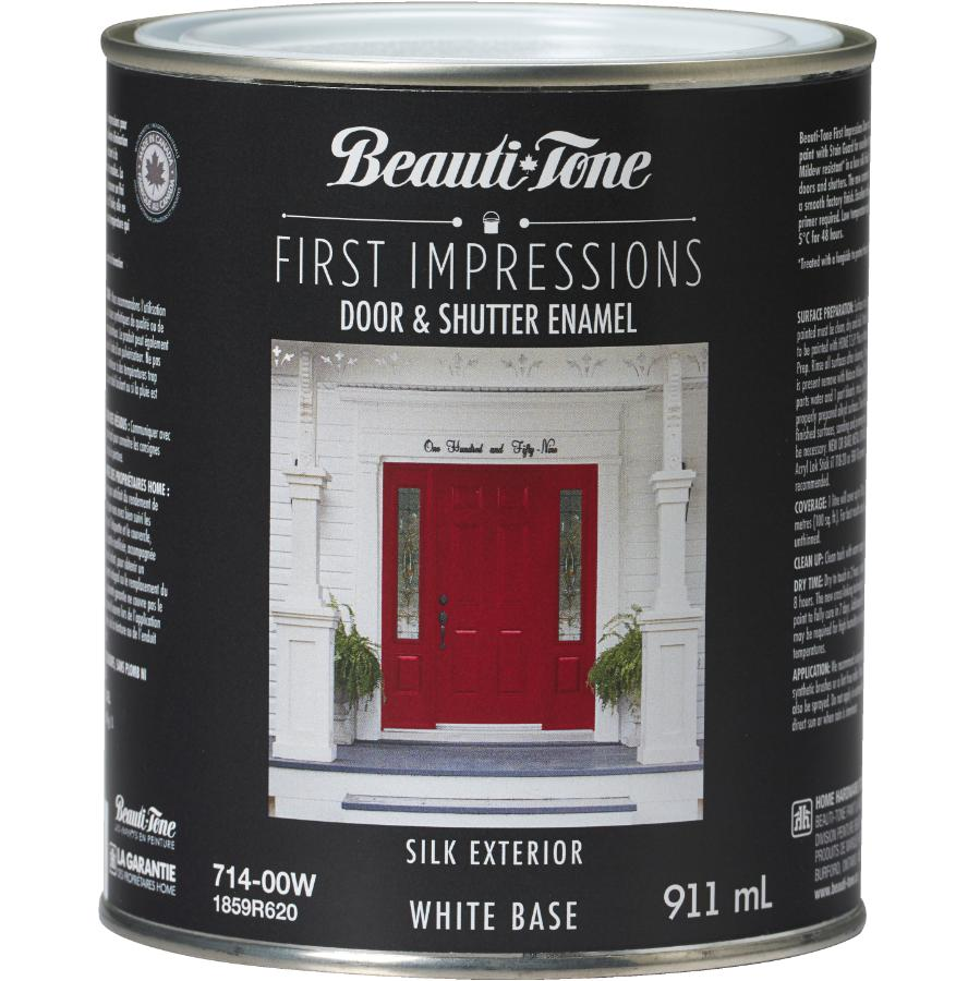 Beauti-tone 911mL 1st Impressions White Base Door and Shutter Exterior Latex Paint