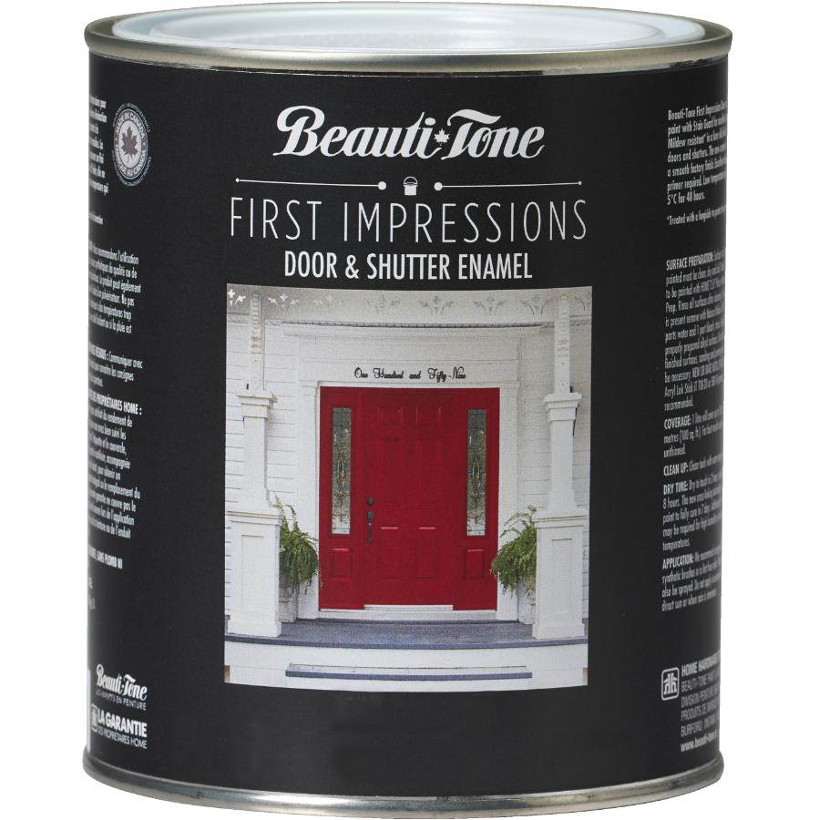 Beauti-tone 850mL 1st Impressions Clear Base Door and Shutter Exterior Latex Paint