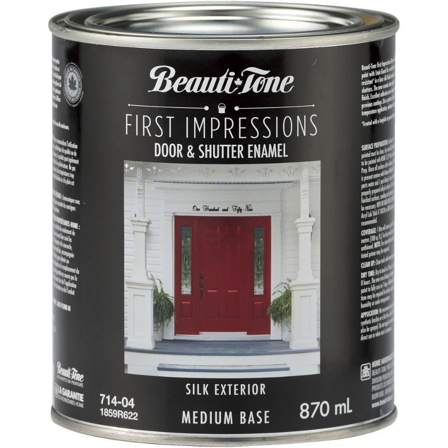 Beautitone Exterior First Impressions Door & Shutter Acrylic Latex Paint - Medium Base, 870 ml