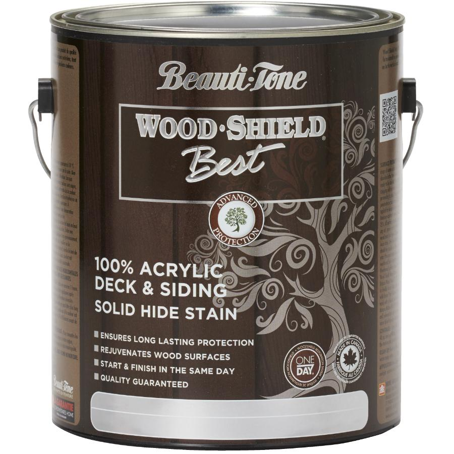 Beauti-tone Wood Shield Best 3.64L Solid Redwood Acrylic Deck and Siding Stain