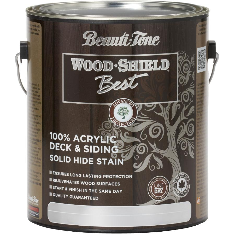Beauti-tone Wood Shield Best 3.64L Solid Cedar Acrylic Deck and Siding Stain